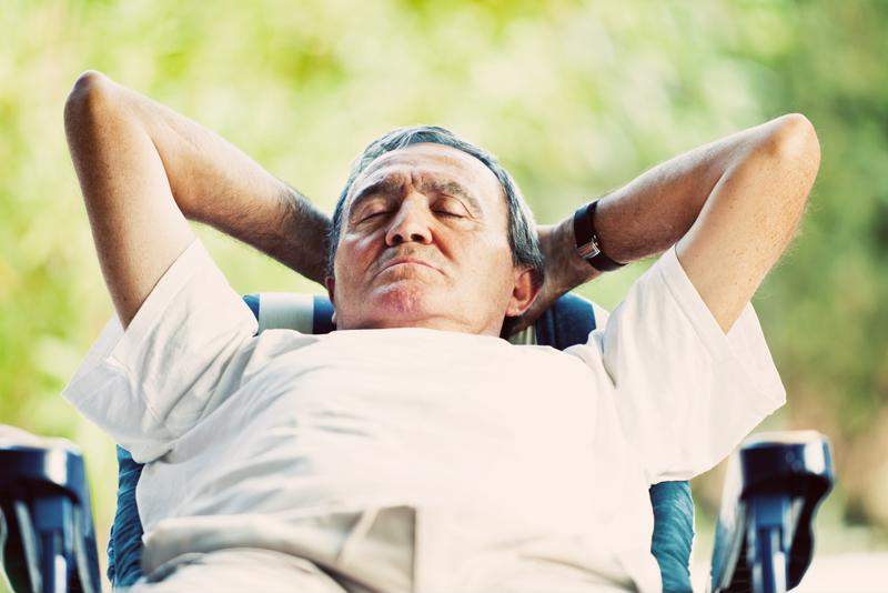 Kick back and relax for heart health.