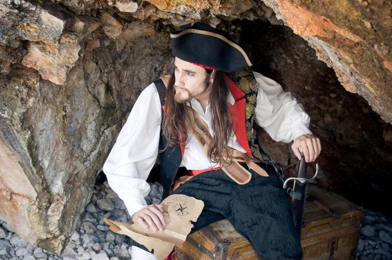 Try dressing like a pirate this Halloween.
