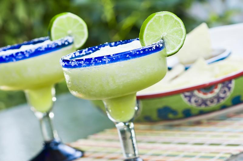 Margarita glasses are designed for this signature beverage.