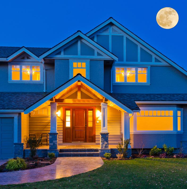 Coming home to a well-lit home will make you feel comfortable and secure.