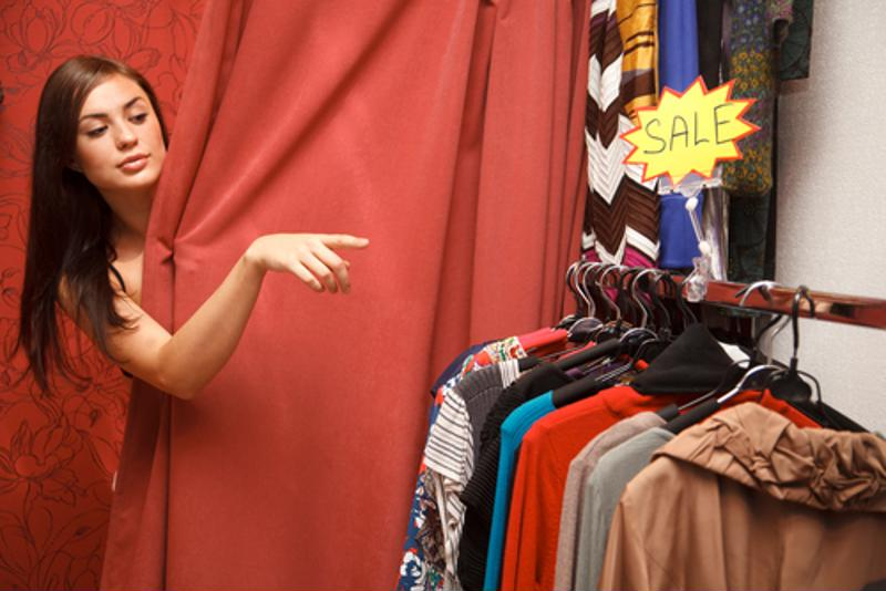 Clothing stores should offer customers a comfortable space to try on products.