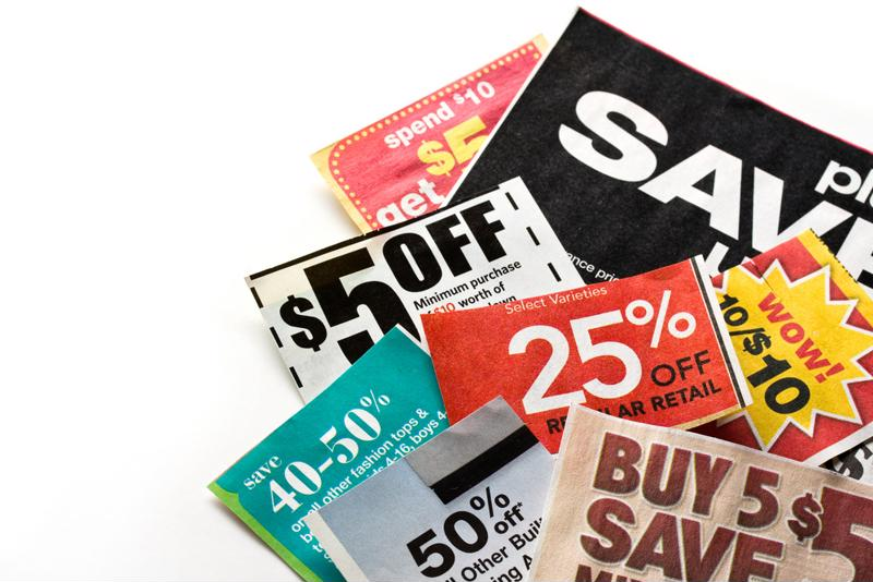 Coupon clipping brings substantial savings that helps to lighten financial stress.