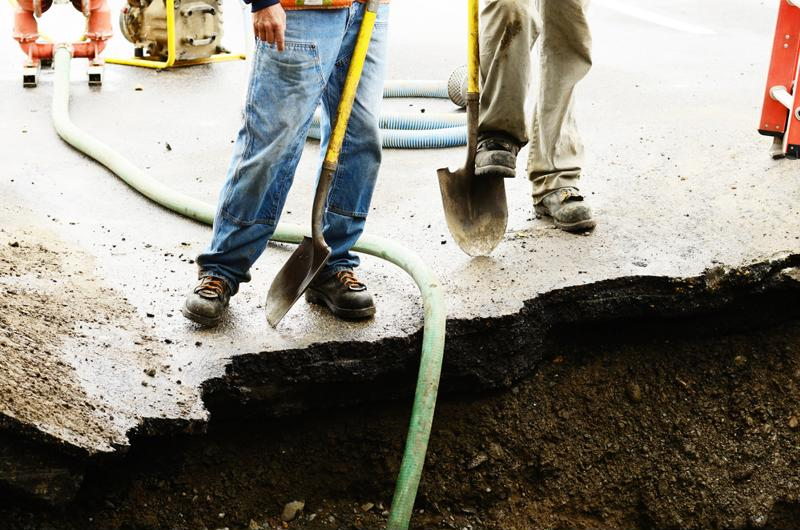 A broken water main can do serious damage to any property.