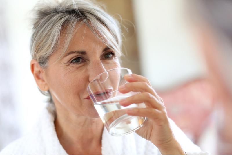 To stay hydrated, it is important to drink at least 64 ounces of water per day.