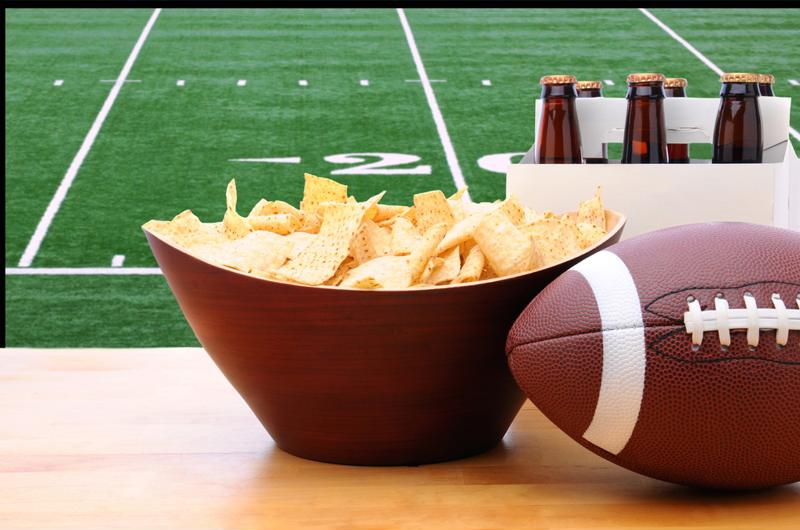 Create a winning atmosphere by making your guests feel as if they're really at the Super Bowl.