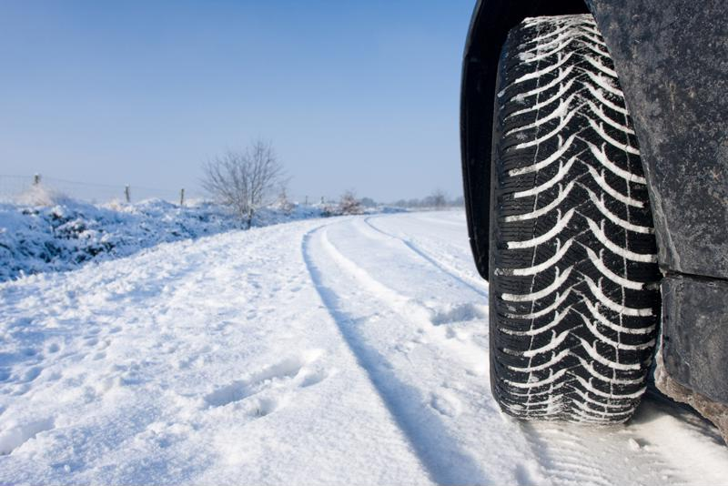 Winter tires have maximized traction to help keep you stable on the roads.