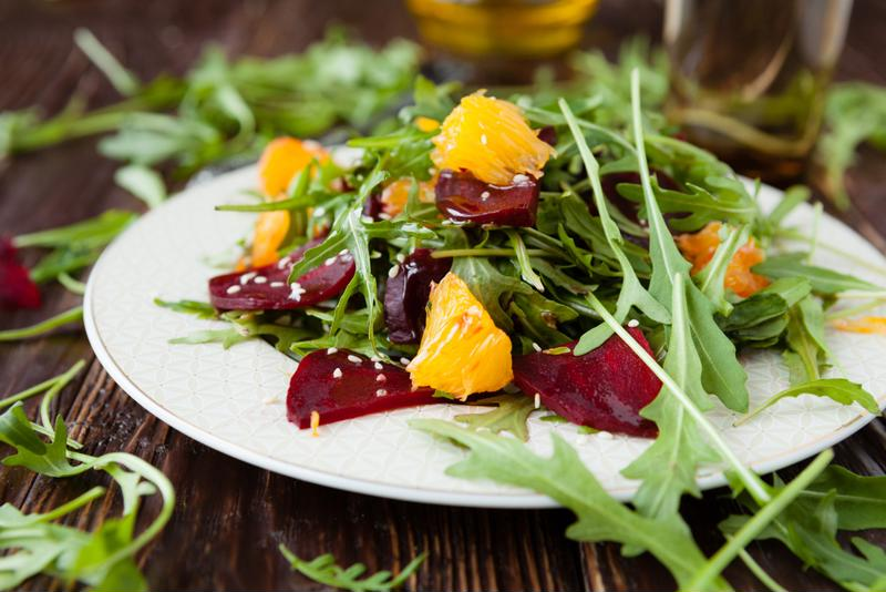 Add your pickled beets to a salad for a tasty, healthy snack.