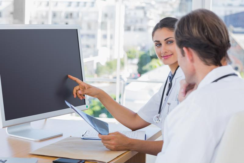 Medical imaging is one area where cloud computing works within the medical industry.