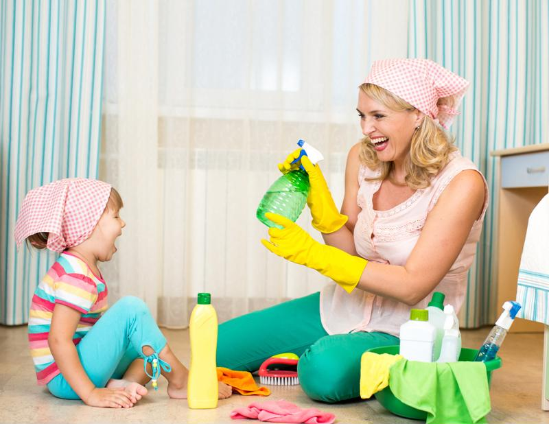 Doing chores with your little one doesn't have to be boring.