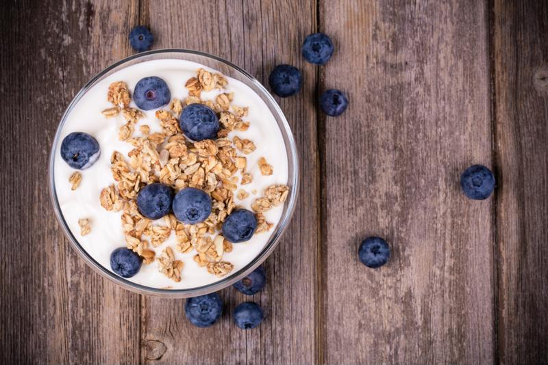Make Greek yogurt with mixed berries and granola a regular treat.