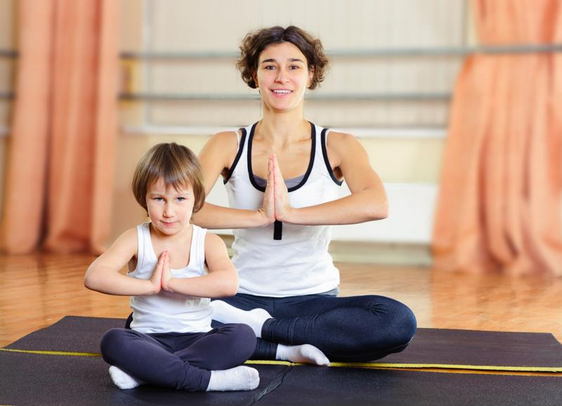 Yoga is beneficial for adults and children.