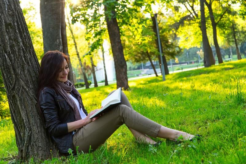 Take advantage of those sunny days by reading outside with one of these books.