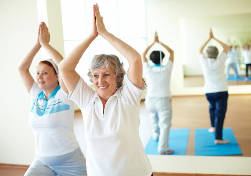 At care homes, people have the opportunity to partake in exercise classes to make physical activity more enjoyable.