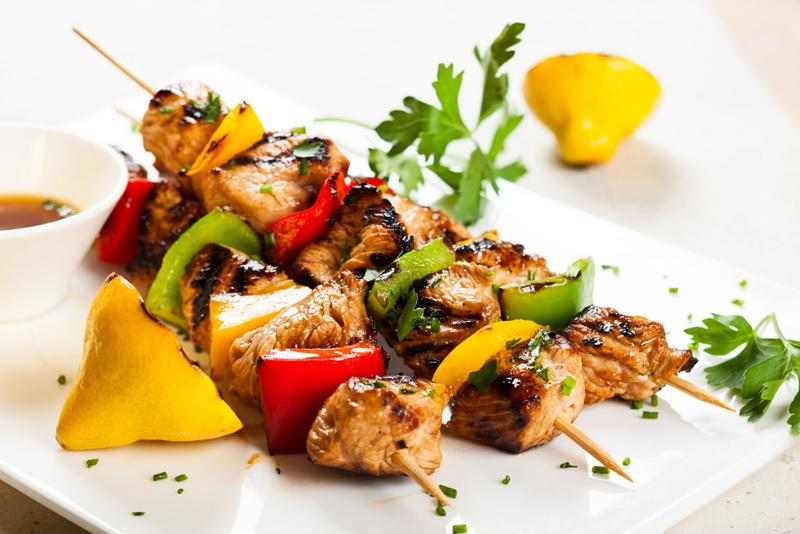 Three words can turn a picnic from OK to perfect: chicken pineapple skewers.