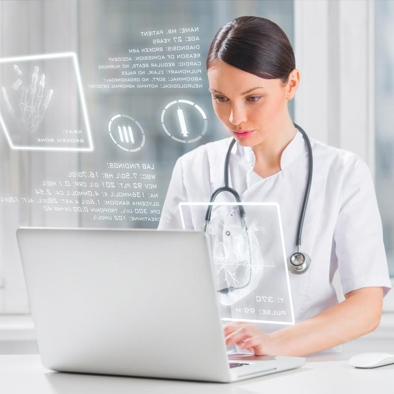 online portal, physician, doctor, patient, senior