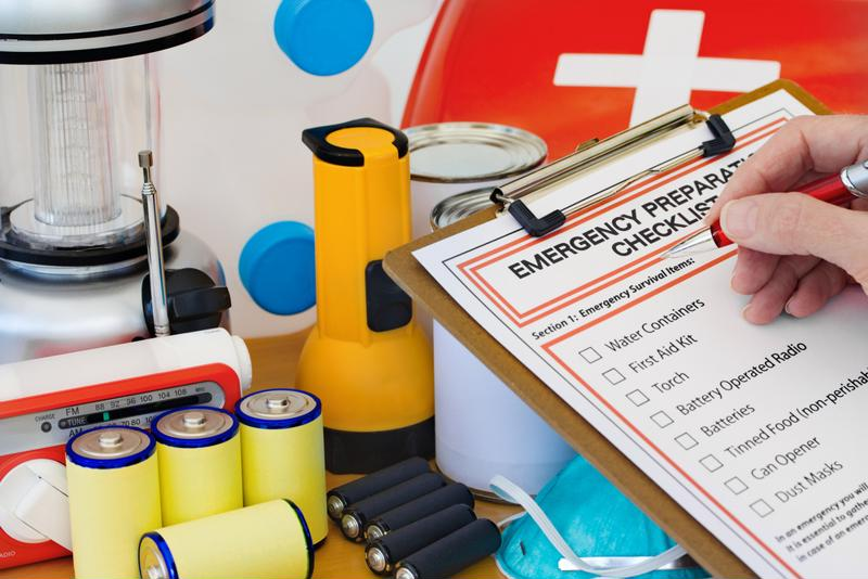 Have the right materials on hand for emergencies.