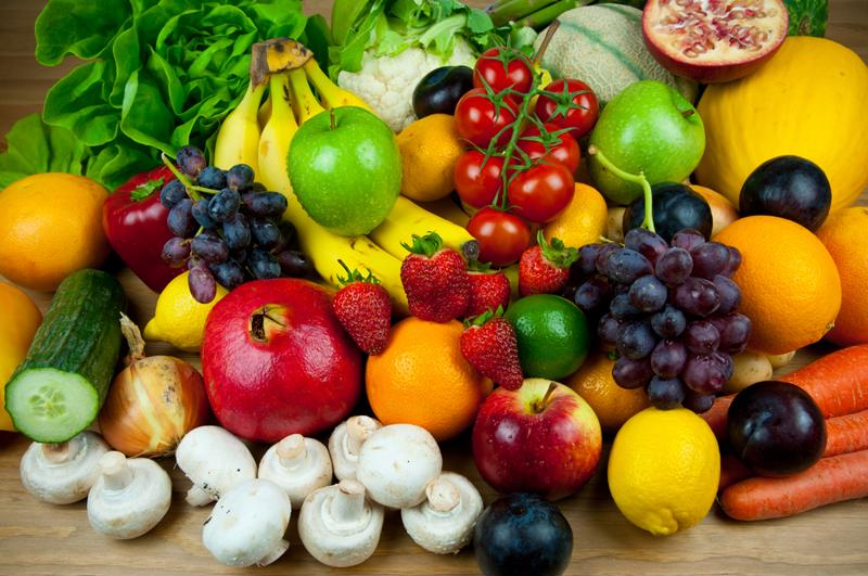 Load up on fruits and vegetables to fuel your workout.