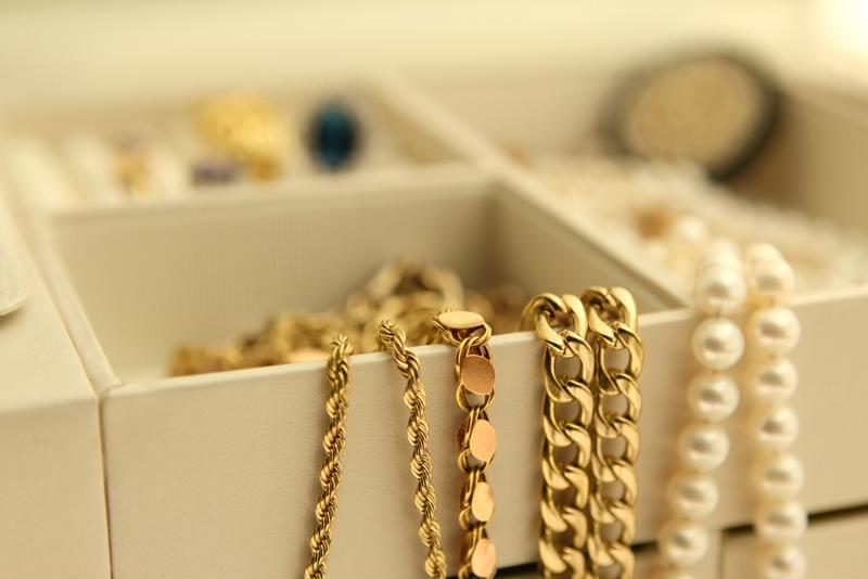 Use a frame to hang your jewelry.