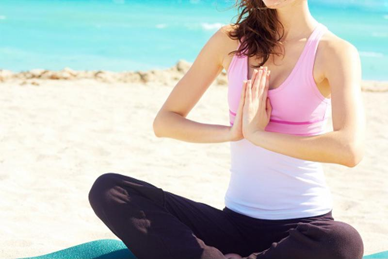 Outdoor yoga is a great way to work out and ring in spring.
