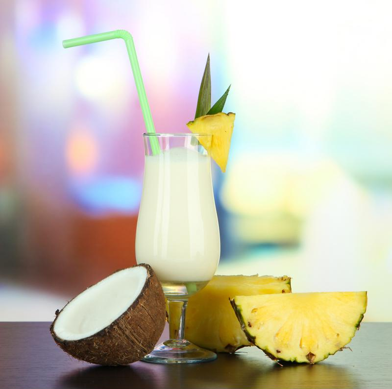 Feel free to get creative with your garnishes and like adding a wedge of real pineapple on the rim of the glass.