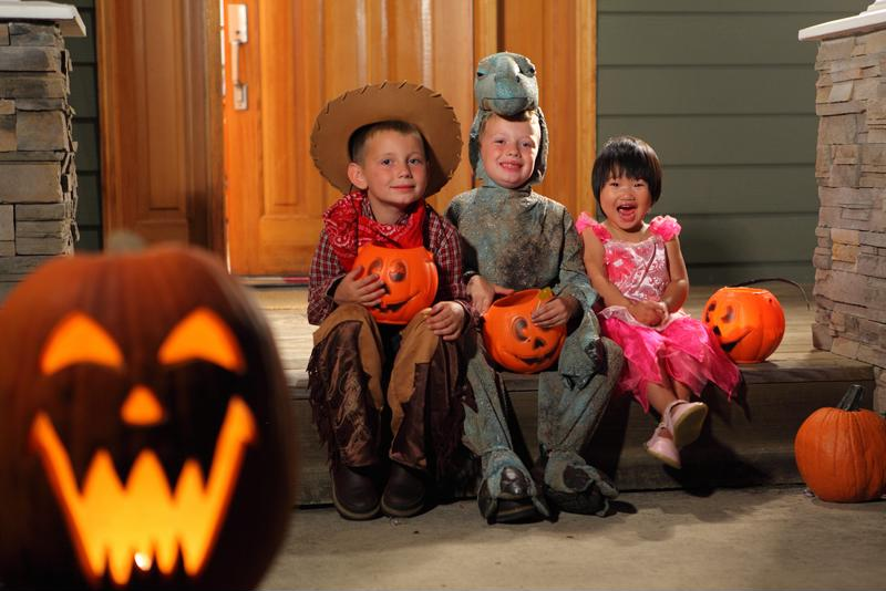 Home lighting will turn your house into a fun and safe Halloween haunt.