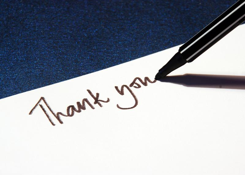"""A simple """"Thank you"""" goes a long way."""