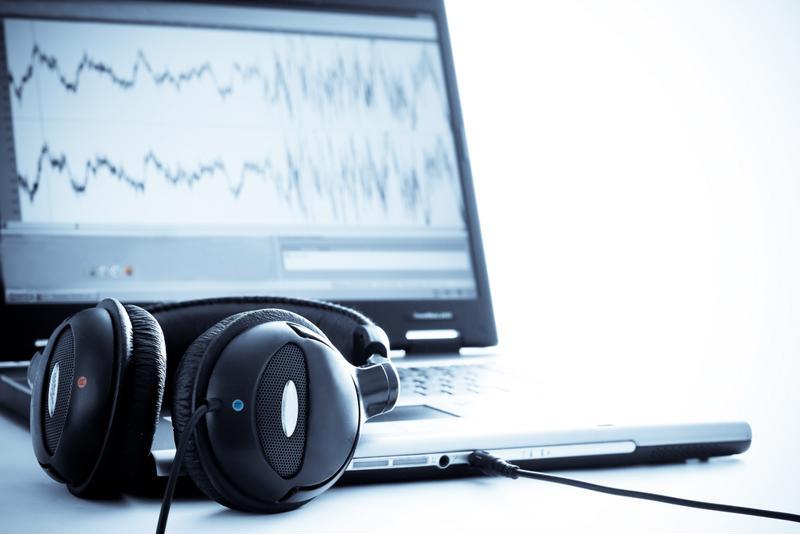 Music computer headphones image