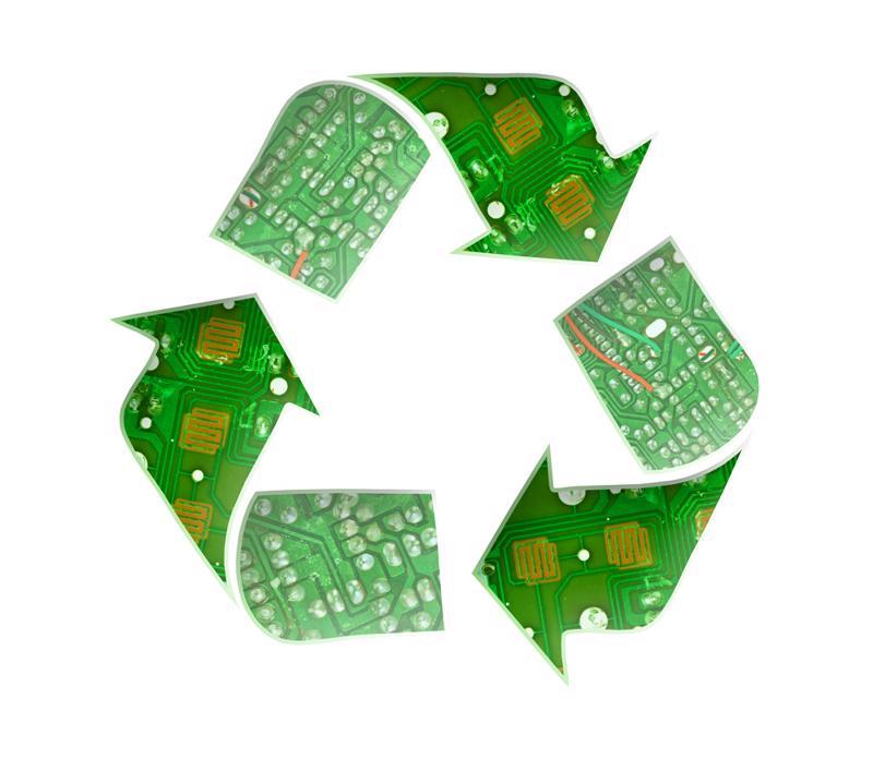 Recycling electronics.