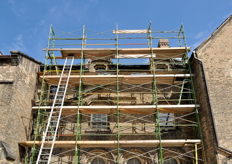 Old buildings require special care in restoration.