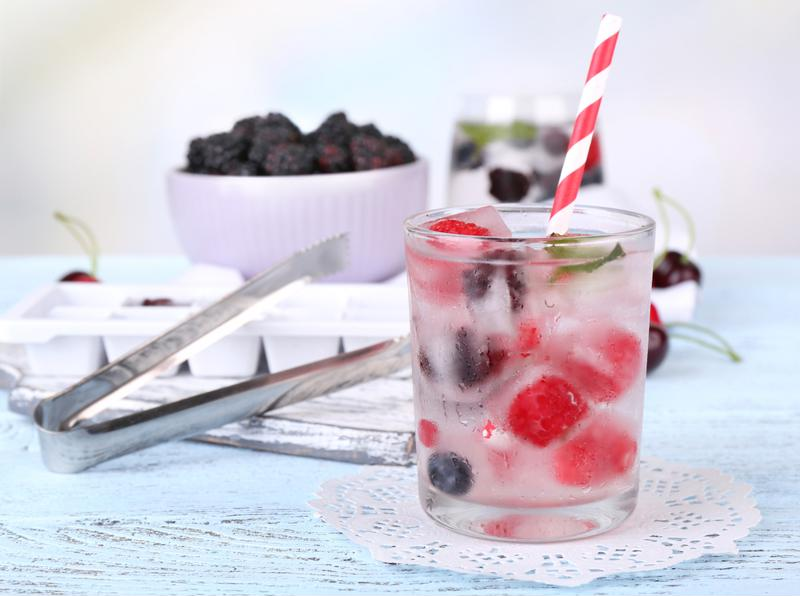 An assortment of frozen berries make this punch extra sweet.