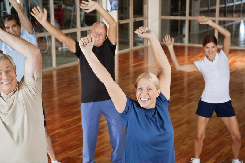 Zumba blends dancing and stretching for a heart-healthy workout.