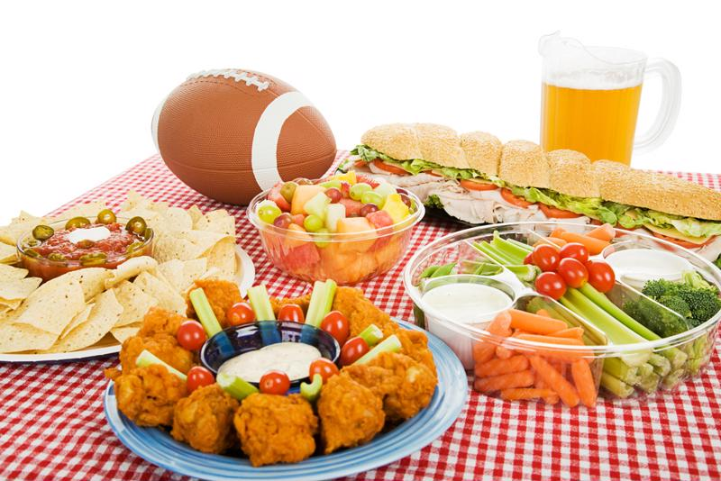 Food and football are the perfect match.