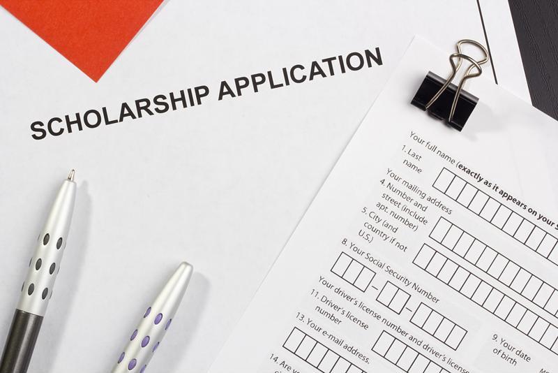 A scholarship application.