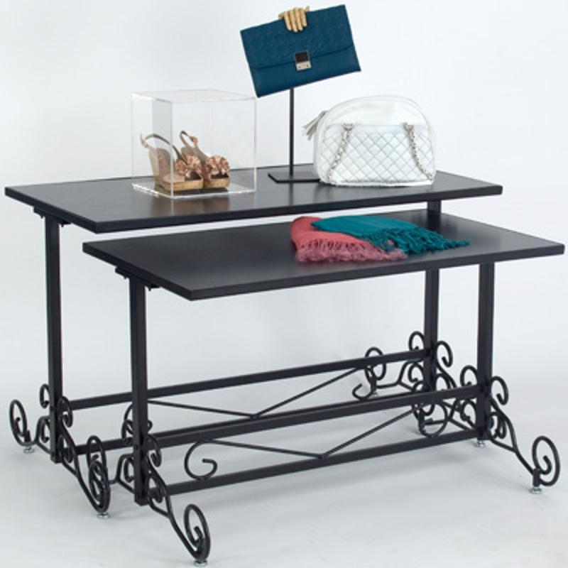 A stylish table can make all the difference for a store's atmosphere.