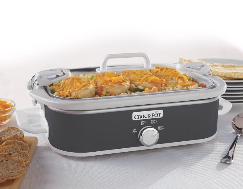 Remove each piece of your slow cooker to properly clean it.
