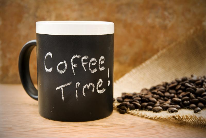 Schedule some coffee breaks throughout your day.