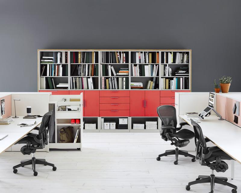 Furniture can offer a great opportunity to add a pop of color to your office.