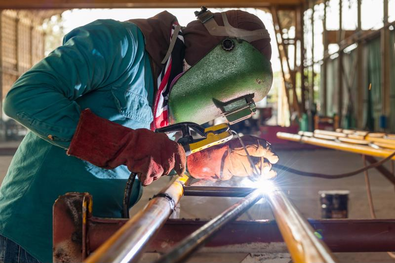 Having proper eye protection is particularly important when welding.