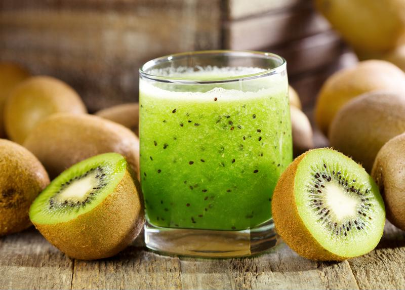 Use fresh kiwi in your cocktail.