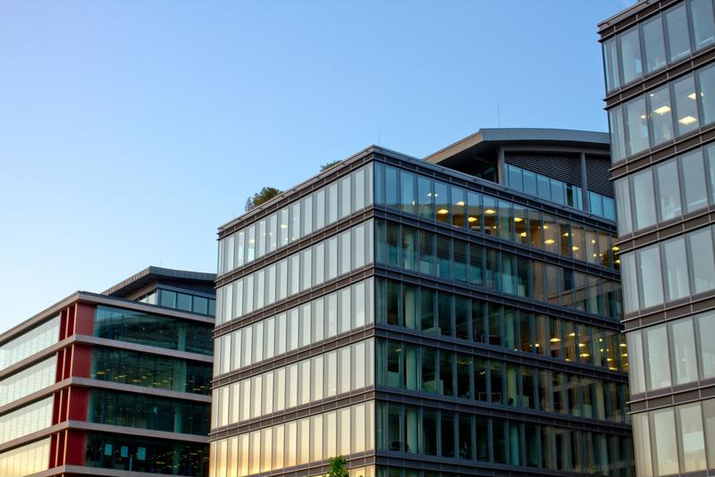 Buildings with lots of windows may experience more energy efficiency issues.