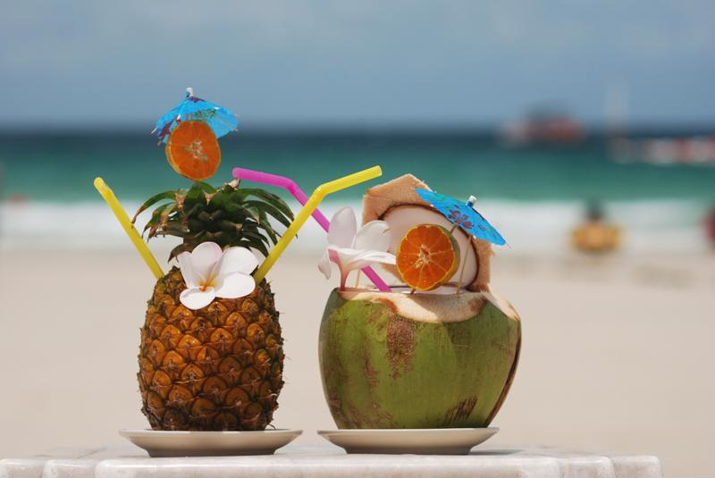 Enjoy your coconut margarita in a real coconut!