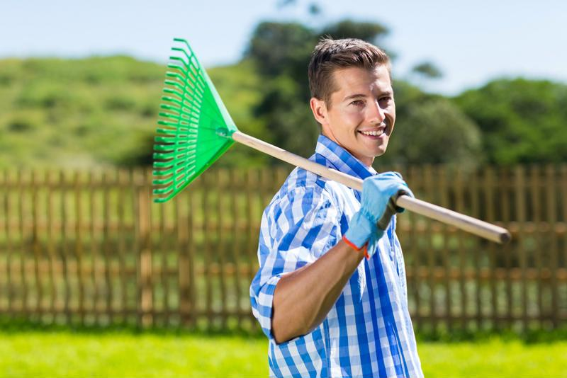 Use the right tools and equipment when performing yard work.