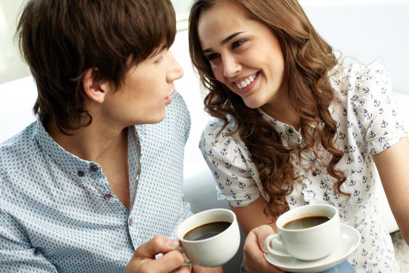 Don't talk about dating without a cup of coffee in hand.