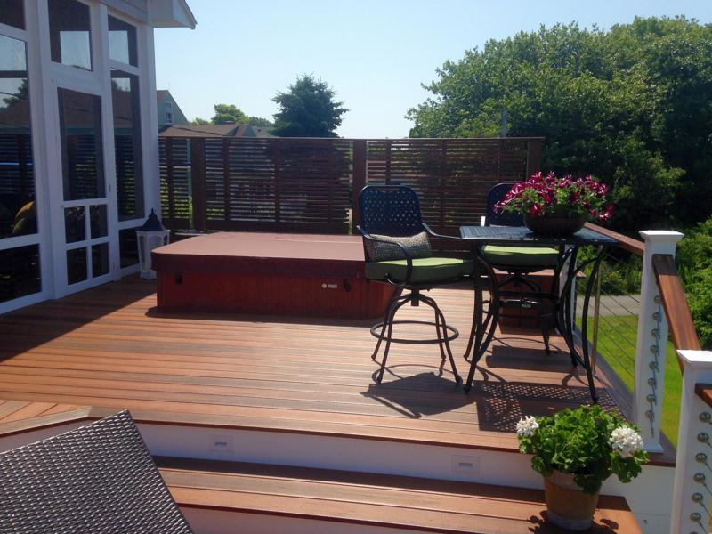 Capped composite decks were made for summer.
