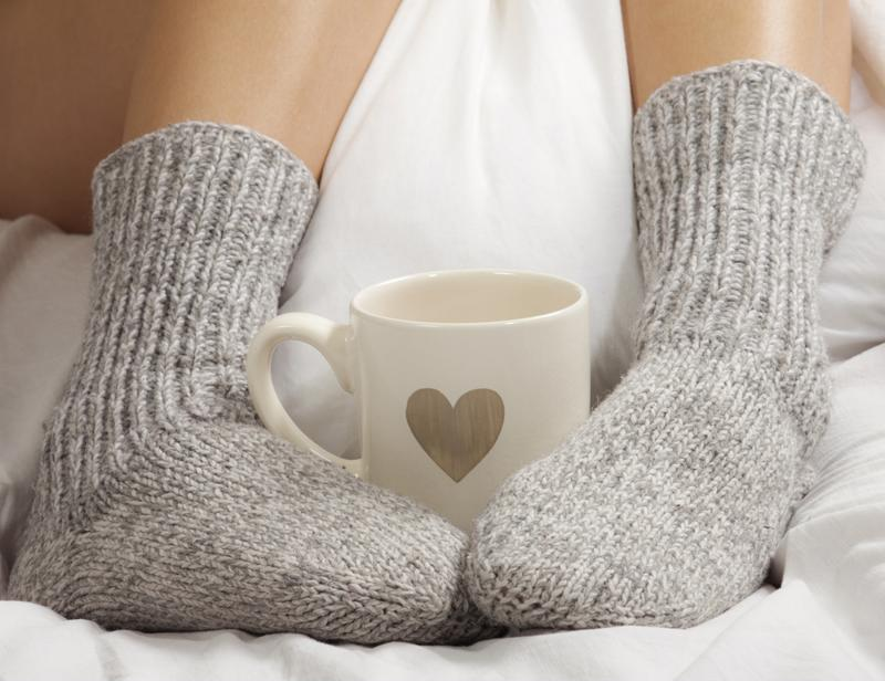 Cozy up with a cup of tea.