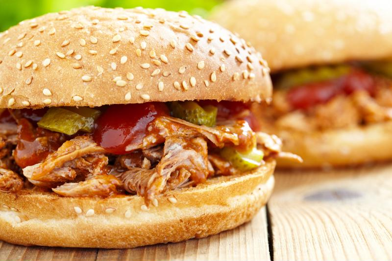 Pulled turkey is a great substitute for pork when you're having a cookout.