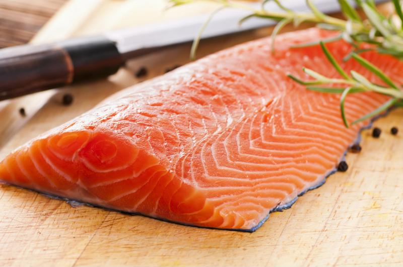 Get a nice piece of salmon and cover it with these tasty ingredients.