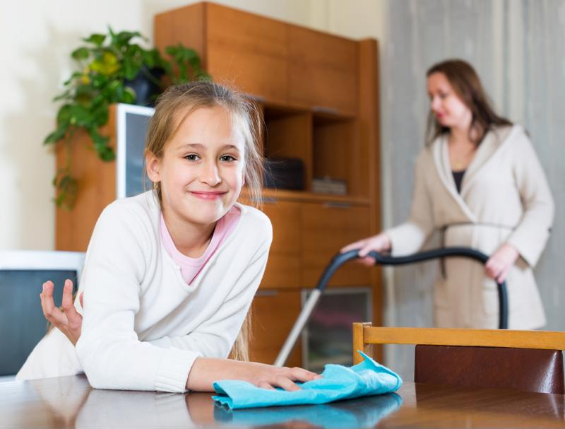 Your kids may actually enjoy doing some spring cleaning tasks.