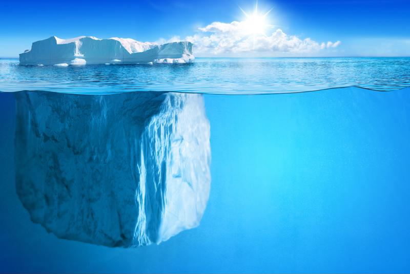 Just like an iceberg, 90% of cyberthreats are not visible on the surface.
