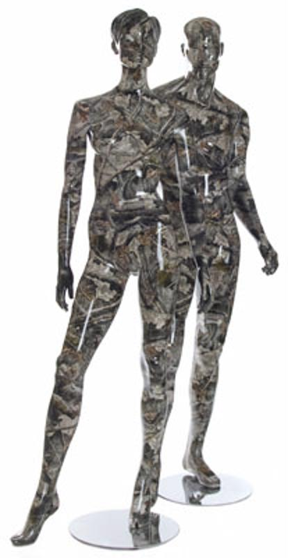 Camouflage mannequins are perfect for hunting attire.